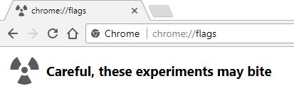 Chrome flags address bar